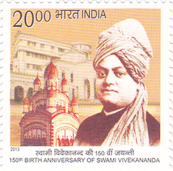 Postage Stamp on 150th Birth Anniversary Of Swami Vivekananda