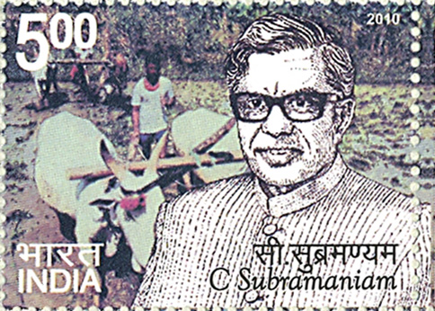 Postage Stamp on C. Subramaniam