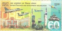 Indian Postage Stamp on DEFENCE RESEARCH AND DEVELOPMENT ORGANISATION