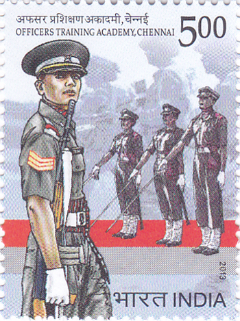 Postage Stamp on Officers Training Academy, Chennai