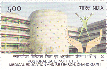 Postage Stamp on Postgraduate Institute Of Medical Education And Research, Chandigarh