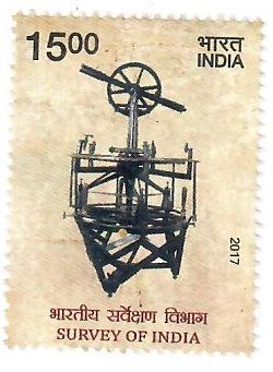 Indian Postage Stamp on Survey of India