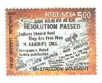 Postage Stamp on 1942 FREEDOM MOVEMENT