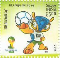 Indian Postage Stamp on 2014 FIFA World Cup