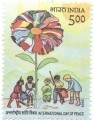 Indian Postage Stamp on A Commemorative  International Day Of Peace