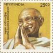 Postage Stamp on A Definitive    Mahatma Gandhi & Nonviolence