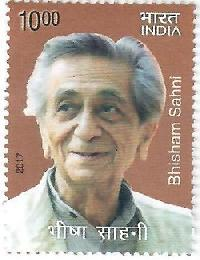 Postage Stamp on Bhisham Sahni