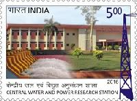 Postage Stamp on Central Water And Power Research Station
