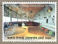 Indian Postage Stamp on Chhatrapati Shivaji International Airport