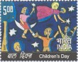 Indian Postage Stamp on Childrens Day