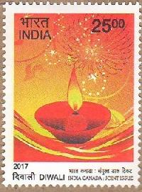Postage Stamp on DIWALI INDIA CANADA