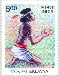 Indian Postage Stamp on Eklavya