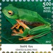 Indian Postage Stamp on Endemic Species Of Indian Biodiversity Hotspots Venated Gliding Frog
