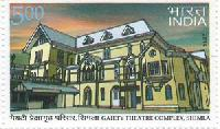 Indian Postage Stamp on Gaiety Theatre