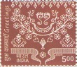 Indian Postage Stamp on Greetings