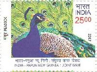 Indian Postage Stamp on India – Papua New Guinea