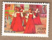 Indian Postage Stamp on India Russia-Joint Issue