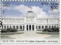 Indian Postage Stamp on India-Singapore
