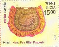 Postage Stamp on INDIAN HAND FAN