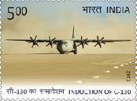 Postage Stamp on Induction of C-130