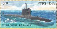 Postage Stamp on INS KALVARI