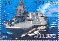 Indian Postage Stamp on INS Vikramaditya
