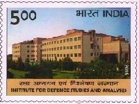 Indian Postage Stamp on INSTITUTE FOR DEFENCE STUDIES AND ANALYSES