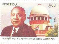 Indian Postage Stamp on Justice Meher Chand Mahajan