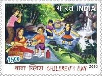 Postage Stamp on Picnic
