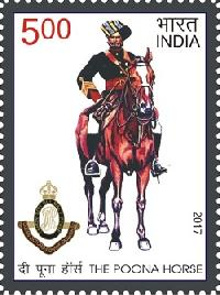 Postage Stamp on Poona Horse