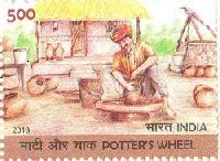 Postage Stamp on Potter's Wheel