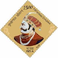 Indian Postage Stamp on PRITHVIRAJ CHAUHAN