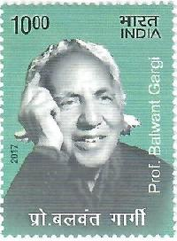 Postage Stamp on prof. Balwant Gargi