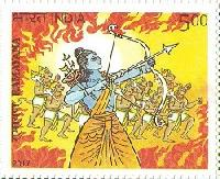 Indian Postage Stamp on RAMAYANA