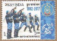 Indian Postage Stamp on RAPID ACTION FORCE