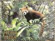 Postage Stamp on Rare Fauna Of The North East Red Panda