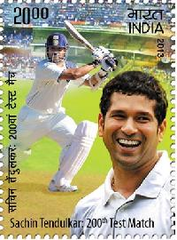 Postage Stamp on Sachin Tendulkar