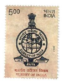 Postage Stamp on Survey of India