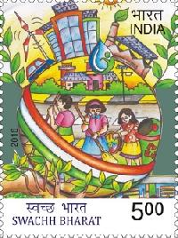 Postage Stamp on Swachh Bharat