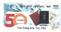 Postage Stamp on The Passports Act, 1967