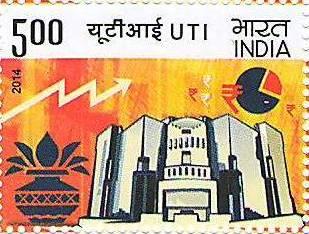 Indian Postage Stamp on UTI stamp